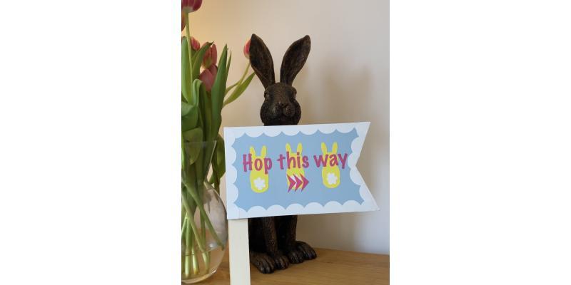 DIY Easter Sign using HappyVinyl