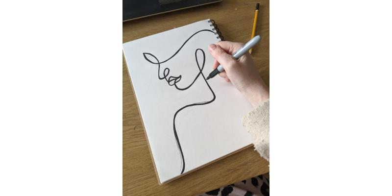 How to:- HTV Female Line Drawing