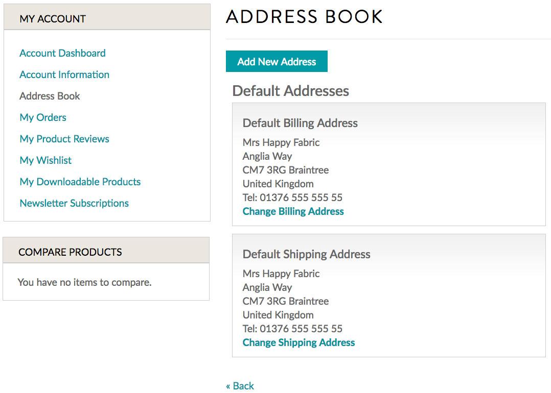 Happy Fabric Address Book