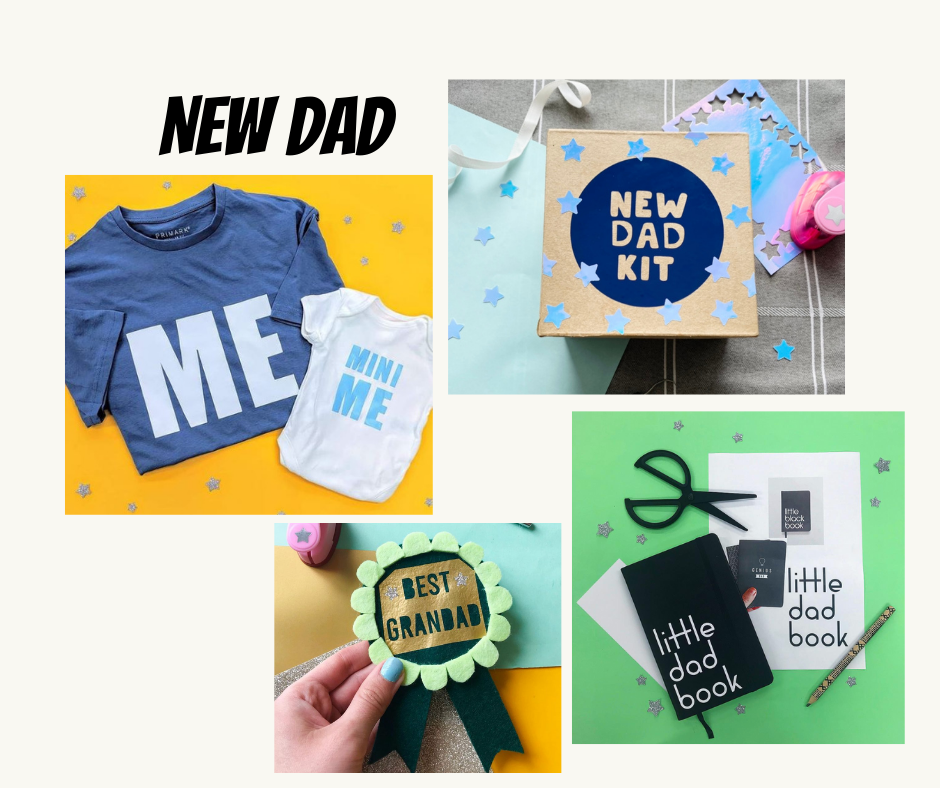 personalised new dad gifts UK with vinyl
